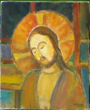 Tableau Louis Arnoux Montbard 2000 peintre bourguignon Jésus Religion