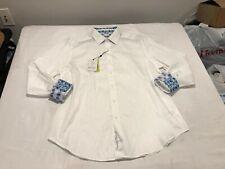 NWT $178.00 Robert Graham Walden LS Buttondown White Size LARGE