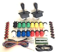 Arcade Pack,  2 Batt Joysticks, 16 Buttons and I-Pac 2 with Wiring