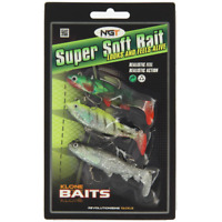 Pack of 3 Super Soft Baits Lures Pike Bass Trout Perch Coarse Sea Fishing Tackle