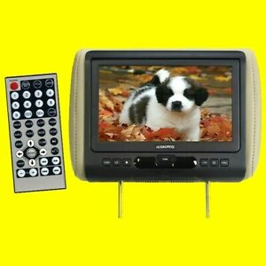 """Audiovox  AVXMTGHR9HD  9"""" Single Headrest Monitor w/ DVD Player and HDMI"""