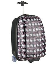 "Hello Kitty ~  Rolling Luggage ABS Trolley Bag ~ 17"" Hard Suit Case ~ NEW"