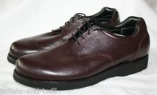 PW Minor Orthotic Orthopedic Diabetic Leather Oxford Men 9.5 B Narrow Vibram
