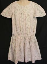 BIG BY FIONA SCANLAN ~ Ivory Silver Pink Rosebud Cotton Summer Dress 8