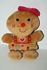 "Dan Dee GINGERBREAD GIRL ornament Toy Plush Stuffed Animal 7"" Scented"