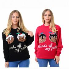 Ladies Mens Christmas Knitted Hands of my Puds Unisex Vintage X Mas Jumper Top