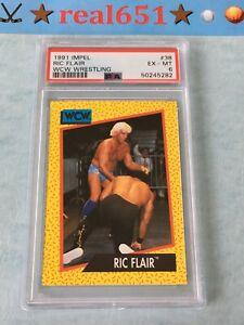 1991 Impel #38 RIC FLAIR PSA 6 EX-MT Centered Sharp WCW Wrestling | Nature Boy
