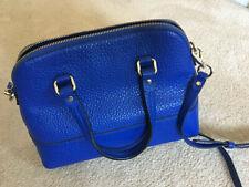 kate spade blue leather handbag