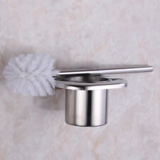 Bathroom Accessories Toilet Brush set 304Stainless steel Chrome Wall mounted New