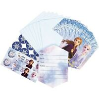 FROZEN 2 INVITATIONS PACK OF 8 PARTY INVITES