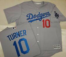 "01022 Majestic Los Angeles Dodgers JUSTIN TURNER ""REAL"" Baseball JERSEY XXL New"