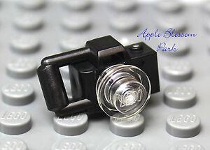 NEW Lego City Town Train Minifig BLACK CAMERA w/Lens  - Tourist Minifigure Tool
