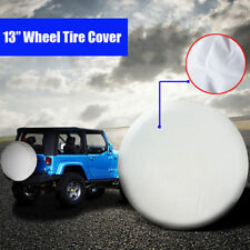 "13"" White Car Spare Tyre Cover Wheel Covers Fit Tire Diameter 57~58cm (22""-23"")"