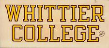 Whittier College California _RARE ORIGINAL_ 1940's Decal vtg NCAA Poets sticker
