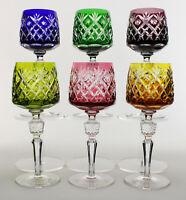 6 Nachtmann Bristol Bleikristall Überfang Weingläser Römer