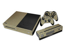 XBox One Console and Controller Skins -- Golden Brown Carbon Fiber (#209)