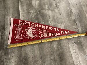 Rare - 1964 St. Louis Cardinals National League Champs Pennant Ex+ Condition