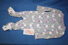 Just One You Made By Carter's Newborn Sleeper Gray Bears *Free Shipping*