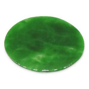 0.45ct Jadeite Jade Oval Flat Cabochon