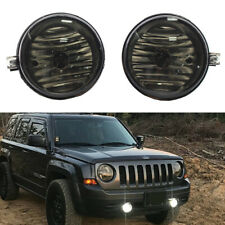 Smoke Fog Light Bumper Lamps For 2007-2009 Jeep Patriot