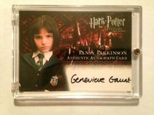 HARRY POTTER PRISONER OF AZKABAN AUTOGRAPH CARD GENEVIEVE GAUNT PANSY PARKINSON