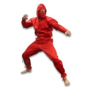 Red Ninja Uniform Gi Ninjutsu Ninpo Bujinkan Budo Taijutsu Shinobi Shozoku