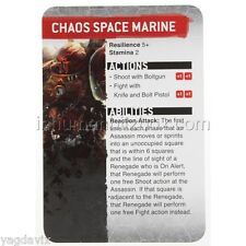 SAS15 CHAOS SPACE MARINE REFERENCE CARD ASSASSINORUM WARHAMMER 40,000 BITZ W40K