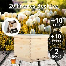 Complete Langstroth Bee Hive Kits 10 Frame 1 Deep Box 1 Medium Queen Excluder