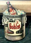 RARE VINTAGE ESSLINGER GOBLET BEER COMPOSITION SIGN BOTTLE LITTLE MAN PHILA PA