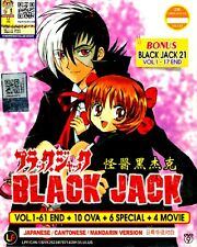 DVD Anime Black Jack Complete 1-61 End +10 OVA+6 Special +4 Movie + BJ 21 Bonus