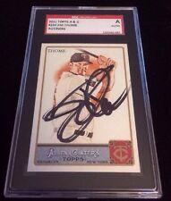 JIM THOME 2011 TOPPS ALLEN GINTERS Autographed Signed Baseball Card SGC 204 TWIN