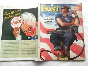 SATURDAY EVENING POST~MAY 29,1943~ROSIE the RIVETER by NORMAN ROCKWELL