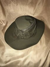 "used Genuine TILLEY Airflo SMALL size 7 1/8"" green fabric LTM6 down sloping brim"
