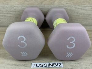 3lb Neoprene Dumbbell Pair Total 6lbs Hand Weights Free Weight Fitness Training