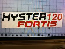 New listing 2-Hyster 120 Fortis Vinyl Decal Forklift Decals Stickers