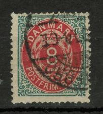"""Denmark Sc#19, Royal Emblem - Value in """"ØRE"""" 8Øre #4048"""