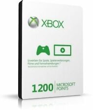 Xbox Live 1200 Punkte Microsoft Credits Code One 360 Guthaben - SOFORT per EMAIL