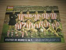 POSTER LAMINA FUTBOL ATLETICO DE BILBAO 1967. REVISTA EL ALCAZAR