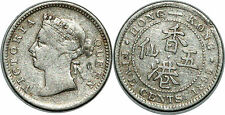HONG KONG 5 CENTS 1895 KM#5