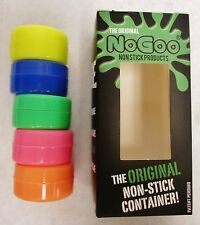 2X 5 Pack NoGoo Glow in the Dark Single Food Grade No Stick Silicone Concentrate