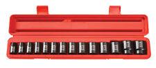 "Tekton 14Pc. 1/2"" Drive 12-Point Shallow Impact Socket Set METRIC-WARRANTY 48171"