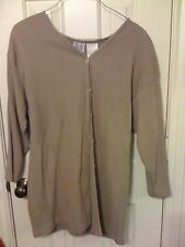 Bobbie Brooks brown sweater coat long sleeve 16W sweater top