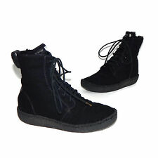 RAG & BONE Black Womens Shearling Lined Lace Up Flat Boots Size 36