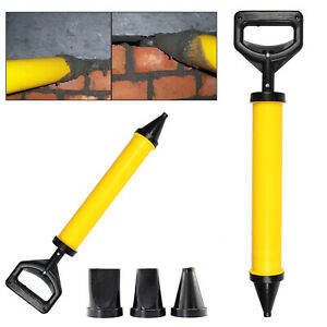 Mortar Gun for Brick Point Grouting Tile Cement Lime Applicator Tool +4 Nozzles