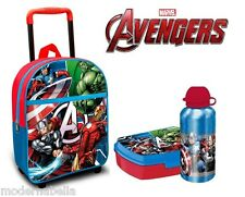 kit Avengers zaino zainetto Trolley,set portamerenda asilo scuola materna