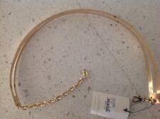 Bardot Junior Metal Belt - Gold Double Lines Adjustable One Size Fits All