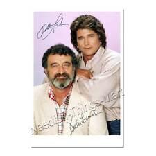 Michael Landon & Victor French in Ein Engel auf Erden -  Autogrammfoto [AK2] 