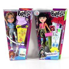 Bratz Dolls Hello My Name is Yasmin and #Selfiesnaps Jade 2015 MIB