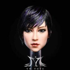 "YMTOYS 1/6 Female  Head Sculpt Asian Head Carving 020B F/12"" Action Figure Model"