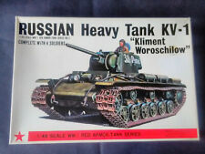 Vintage and rare 1/48 Bandai Soviet (Russian) WW2 KV-1 Heavy Tank model kit